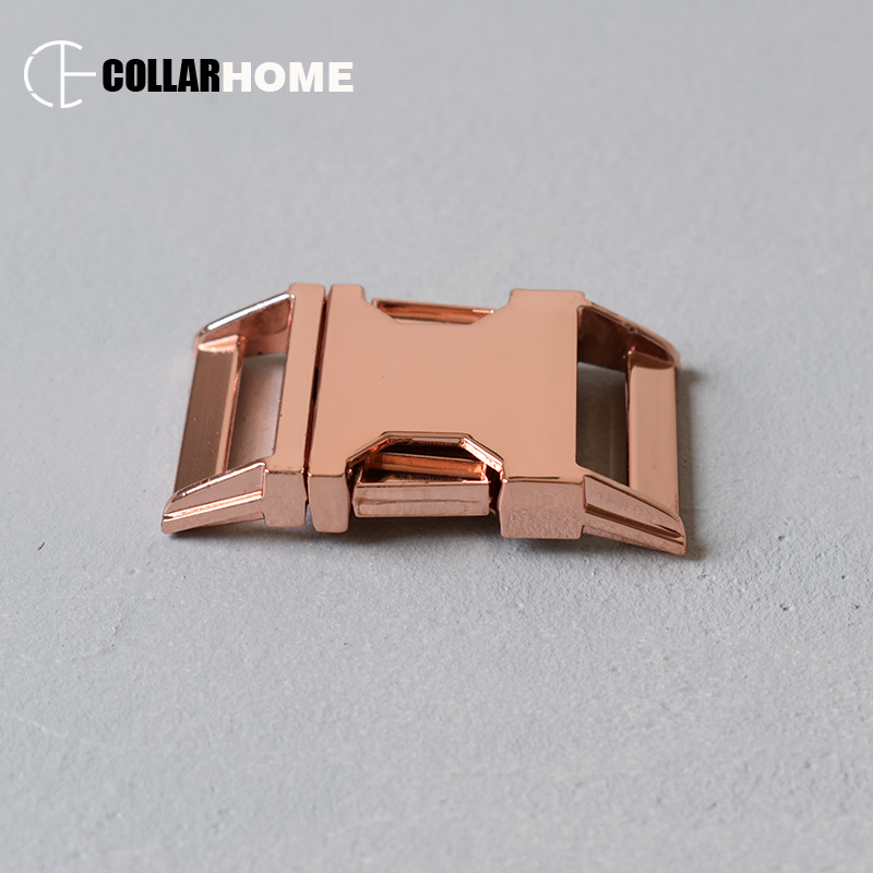 10pcs Plated metal buckle quick release for dog collars garment accessories 1 Inch(25mm) webbing handmade parts rose gold