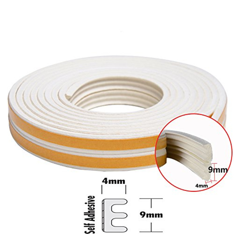 Window Seal Strip Self-Adhesive Weather Stripping Insulation Weatherproof Doors And Windows Sound Insulation Kit E Type 5m