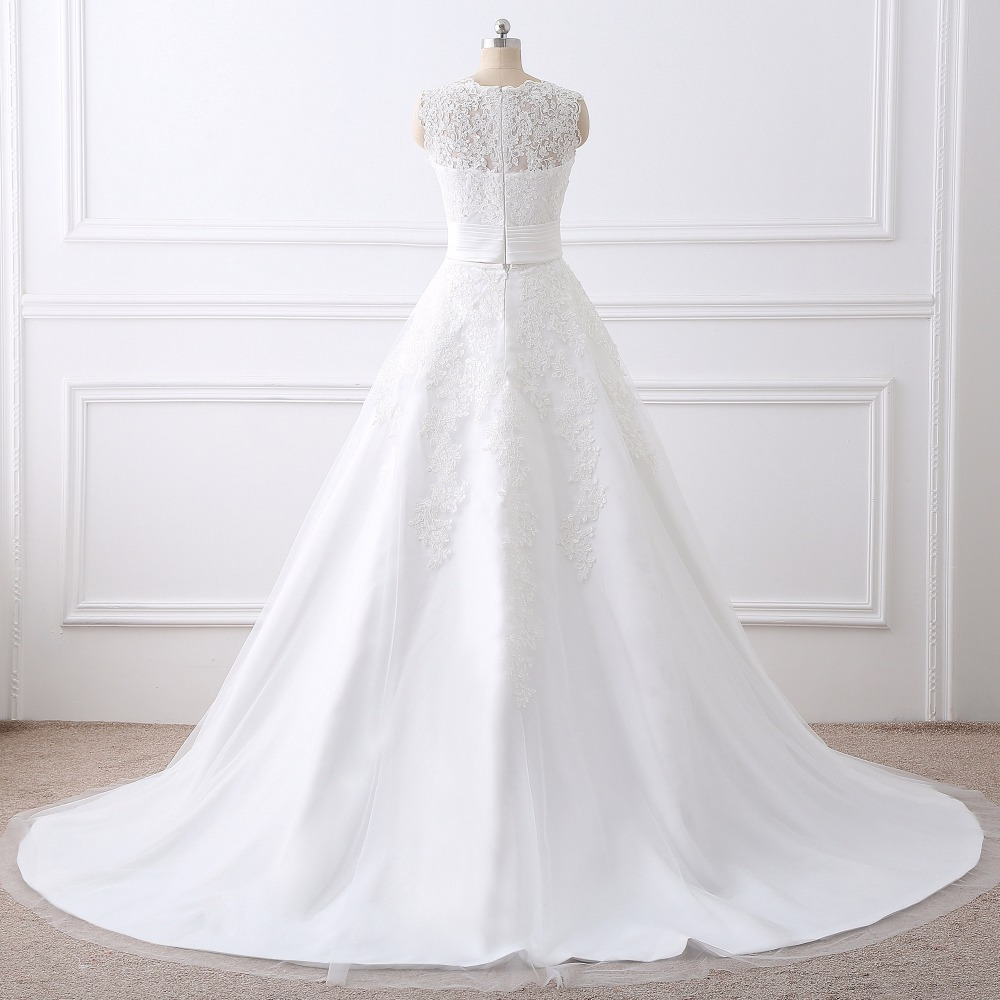 Luxury wedding dress real photo cheap bridal gowns lace wedding luxury wedding dress real photo cheap bridal gowns lace wedding dresses removable skirt a line detachable skirt free shipping in wedding dresses from ombrellifo Images