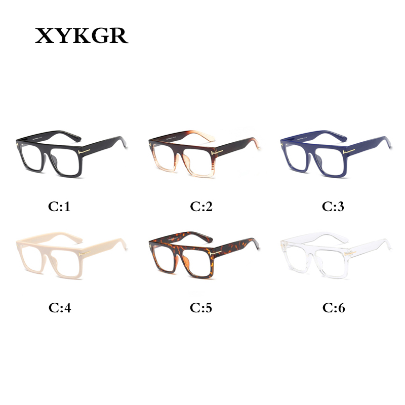 XYKGR new women 39 s optical computer glasses frame large frame square black box leopard glasses frame men and women glasses in Men 39 s Eyewear Frames from Apparel Accessories