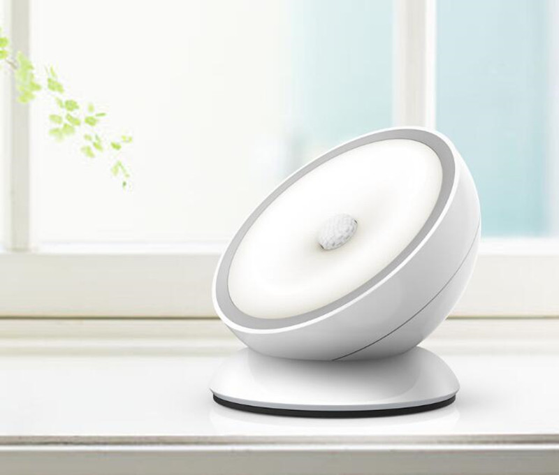 IR Motion Sensor LED Night Light Smart Human Body Induction Nightlight USB Rechargeable Home Closet Cabinet Toilet Camping Lamp four leaf clover pir motion sensor led night light smart human body induction novelty battery usb closet cabinet toilet lamps