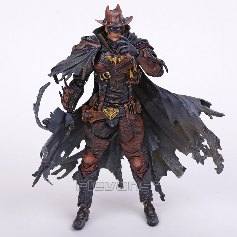 все цены на Play Arts KAI Batman Timeless Wild West PVC Action Figure Collectible Toy 27cm 2 Colors онлайн