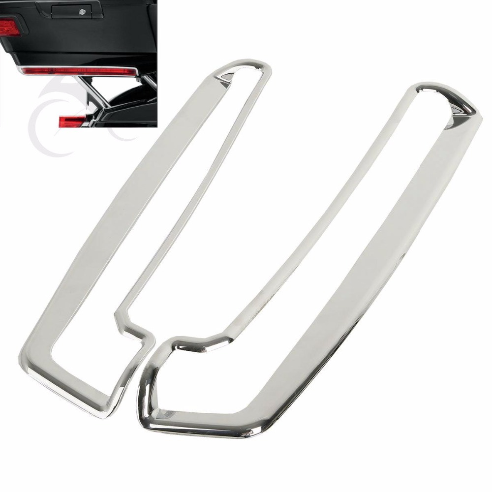 A Pair New Tour-Pak Side Marker Light Trim For Harley Tri Electra Glide Model 14-later 2014-2018 A Pair New Tour-Pak Side Marker Light Trim For Harley Tri Electra Glide Model 14-later 2014-2018