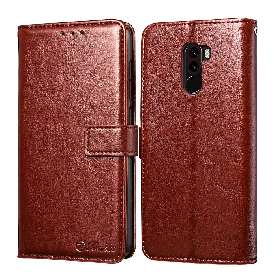 TOMKAS Pocophone F1 Case POCO F1 Global Flip Wallet With Stand Vintage Leather Silicone Back Cover Case For Xiaomi Pocophone F1 (1)
