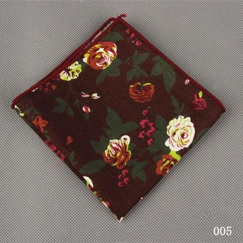 Men's Handkerchief Wedding Business Cotton Polka Dot Chest Towel Floral Pocket Square Handkerchief Towels Hanky
