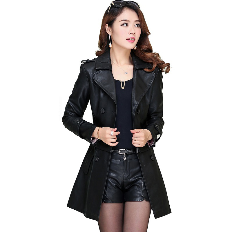 Black Leather Shearling Coat Reviews - Online Shopping Black