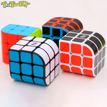 3X3x3 Cambered surface design Professional Speed Cube Puzzle New Design 56mm PVC Sticker Cube 3 by 3 Magic Cube цена