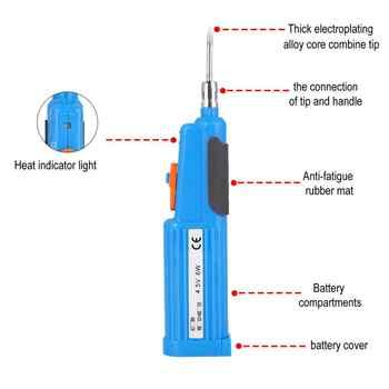 1Pcs soldering iron 4.5V battery powered soldering iron radio soldering iron