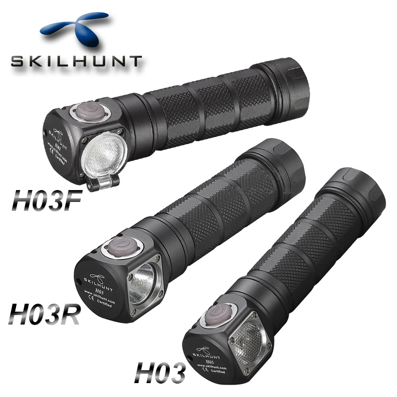 Nouveau Skilhunt H03 H03F H03R Lampe Frontale Led Lampe Frontale Cree XML1200Lm phare chasse pêche Camping phare + bandeau