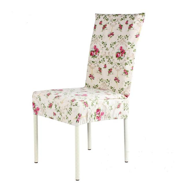 Delightful Top Sale Pastoral Style Chair Cover Printed Cotton Stoelen Hoes Home Dining  Chair Seat Covers Canvas