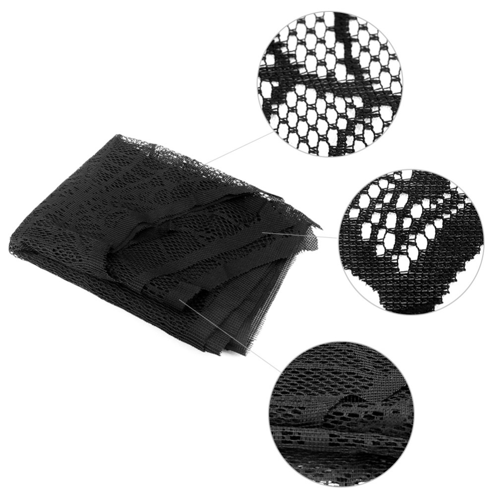 OurWarm Halloween Decoration Black Lace Cobweb Fireplace Scarf 45 245cm Home Horror Table Decor Halloween Props Party Supplies in Party DIY Decorations from Home Garden