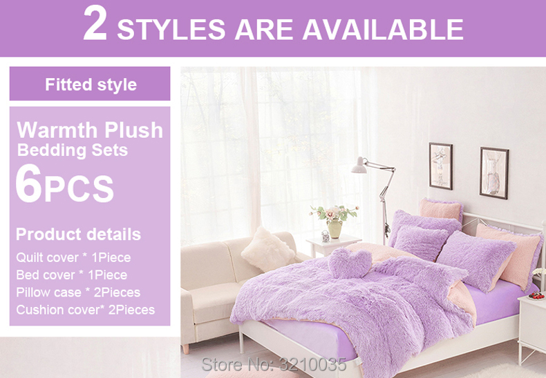 HTB1eeKgmMfH8KJjy1zcq6ATzpXal - Velvet Mink or Flannel 6 Piece Bed Set, For 5 Bed Sizes, Many Colors, Quality Material