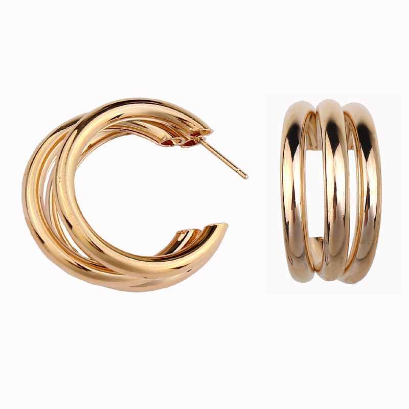 HTB1eeKhacfrK1Rjy1Xdq6yemFXaS - Trendy Fashion Metal Elegant Hoop Earring Woman 2019 New Vintage Gold Color Cheap korean Statement Earrings Accessories brincos