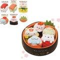 5 unids/set San-x felpa juguetes Anime Sumikko gurashi mini de felpa muñecas decoración de sushi lindo oso gato cerdo para el regalo libre gratis