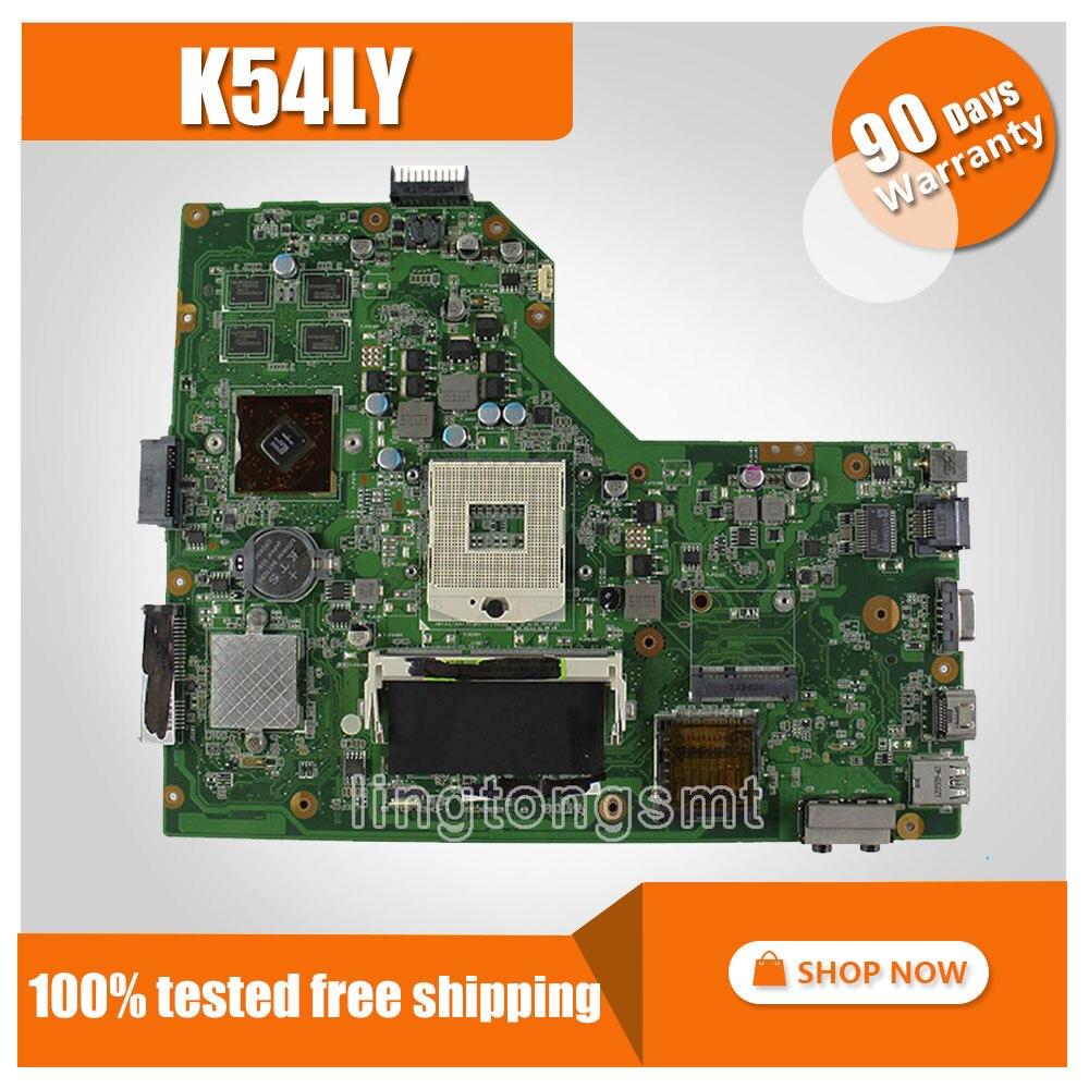 for ASUS K54H X54H X54LY K54LY motherboard K54LY Mainboard DDR3 PGA989 Fit K54HR X54HR 100% tested ytai for asus a54ly x54ly x54hy k54hr a54hr k54ly laptop motherboard rev2 1 intel hm65 ddr3 pga989 mainboard 100% working