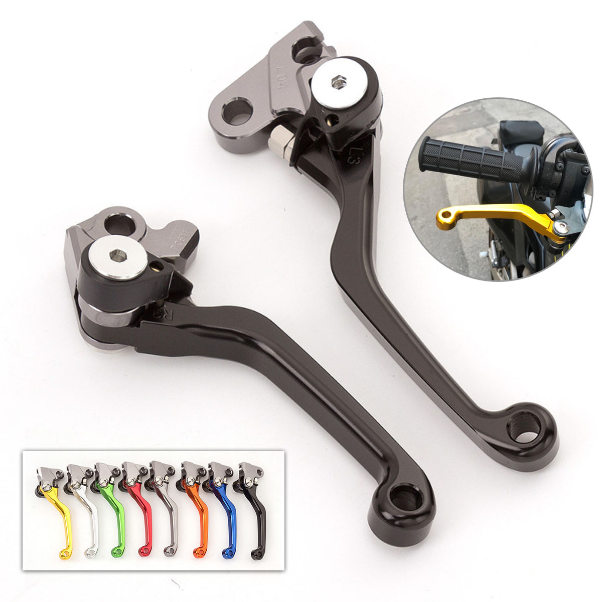 Motocross Pit Bike Dirt CNC Foldable Pivot Brake Clutch Lever For Suzuki RM125 RM250 RM85 For Yamaha YZ80 YZ85 in Levers Ropes Cables from Automobiles Motorcycles