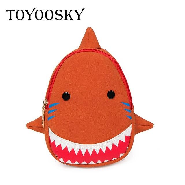 TOYOOSKY Brand Cute Animals Kids 3D Shark Backpack Cartoon Mini Bags  Children School Bags For Girls/Boys Kids Bagpacks