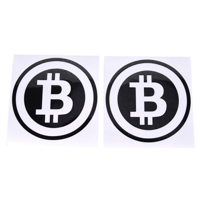 Large Bitcoin Car Sticker Cryptocurrency Blockchain Freedom Sticker Vinyl Car Window Decal 2