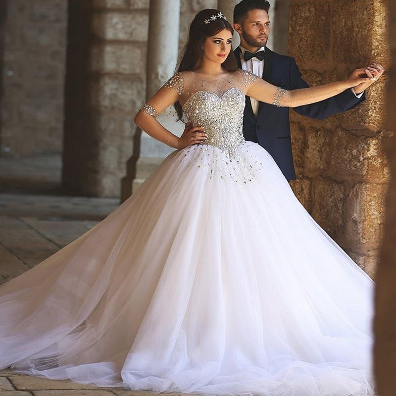 Glitter Wedding Gowns: Said Mhamad Princess Ball Gown Turkey Wedding Dresses