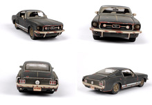 1 24 Scale 1967 Ford Mustang GT Diecast Model Car Toy New In Box Children Gifts