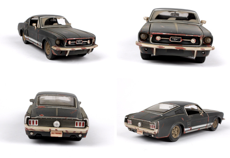 1/24 Scale 1967 Ford Mustang GT Diecast Model Car Toy New In Box Children Gifts Toys Collections Displays