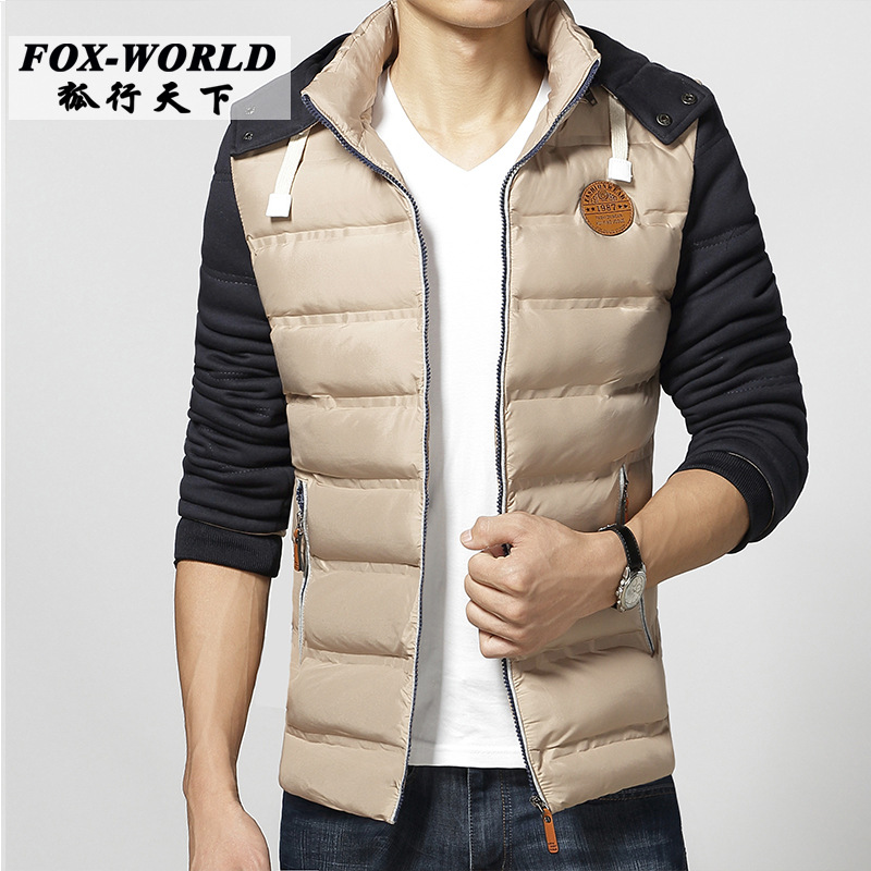 Free shipping new 2016 outdoors slim fit winter thin jacket men fashion solid color cotton-padded with hoodied casual coat  free shipping 2016 autumn winter new korean version fashion city men slim casual zipper cotton padded jacket cheap wholesale