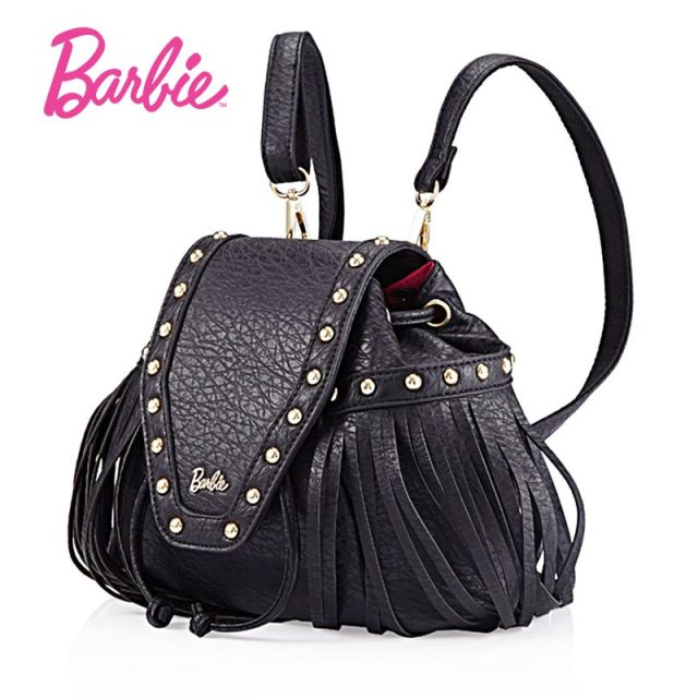 b159e039c159 2018 Barbie Women backBag New Summer girls black backpacks Small Bag  Fashion Trend Brief Shoulder Bag For Ladies