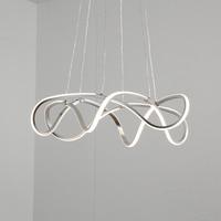 Современные светодиодные люстры для Кухня Обеденная Гостиная подвесной светильник Спальня люстра серебрение 2018 новое поступление