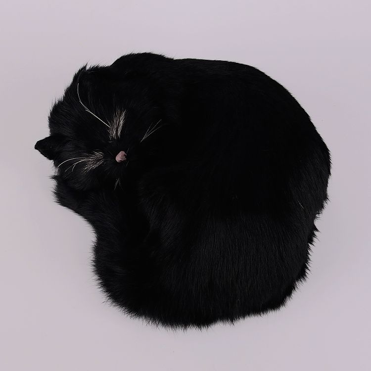 new simulation cat toy polyethylene & furs black sleeping cat doll gift 25x20x11cm 0981 футболка toy machine devil cat black