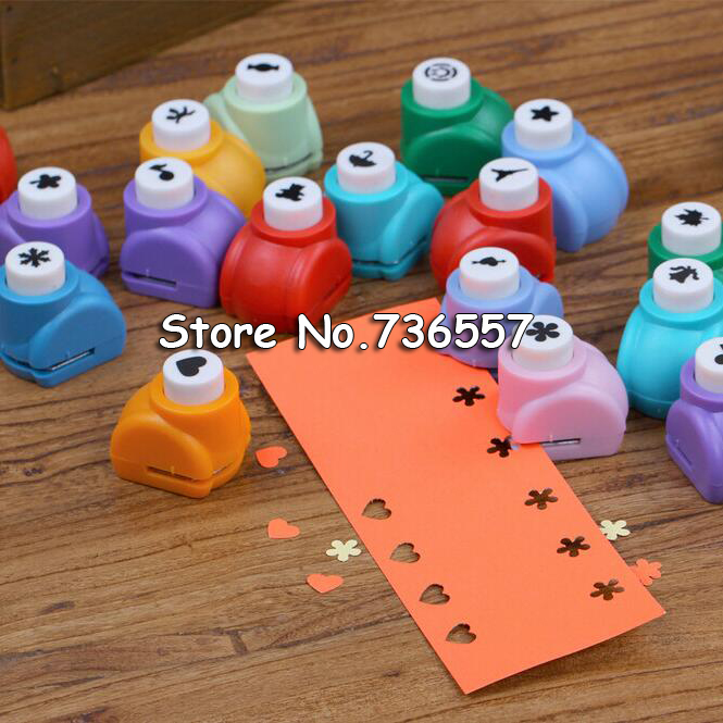 New Mini Scrapbook Punches Handmade Cutter Card Craft Calico Printing DIY Eva Foam Paper Punch Hole Puncher Shape Clip Photo