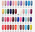 2016 Summer 18 Colors Nail Art Designs LED Soak Off UV Color Coat  Nail Art Set 8ml Long-lasting Glitter UV Gel Nails Polish