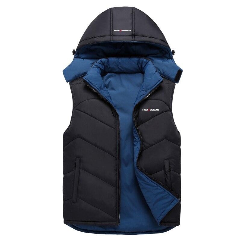 Новая мужская куртка без рукавов veste homme зимняя модная повседневная куртка мужская с капюшоном с хлопковой подкладкой мужская жилетка Мужск...