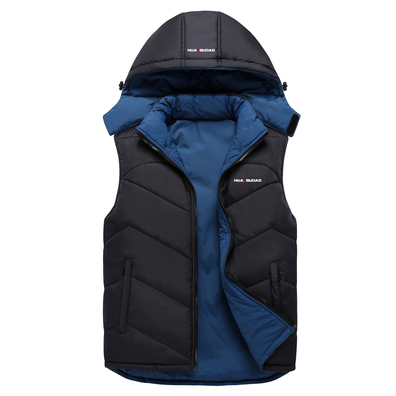 New Mens Jacket Sleeveless veste homme Winter Fashion Casual Coats Male Hooded Cotton Padded Men s