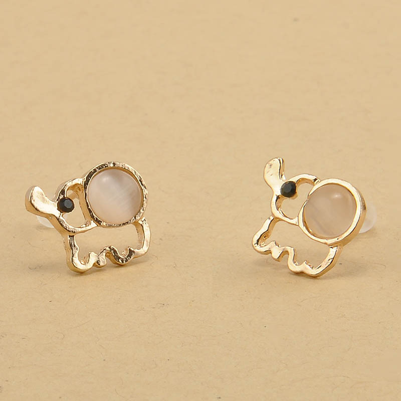 mini gold yellow earrings stud diamond y elephant evan sydney