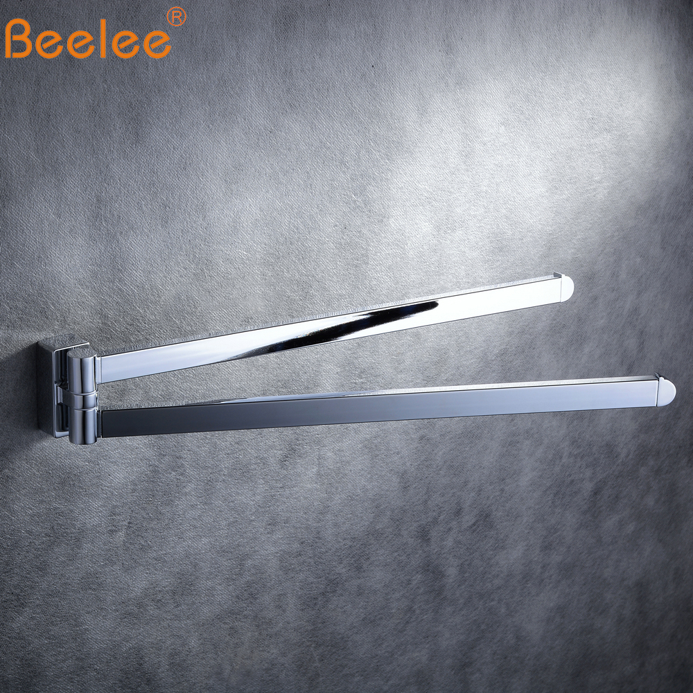 Beelee  Wall Mounted  Folding Movable Bathroom Towel Racks Stainless Steel Towel BA1102C