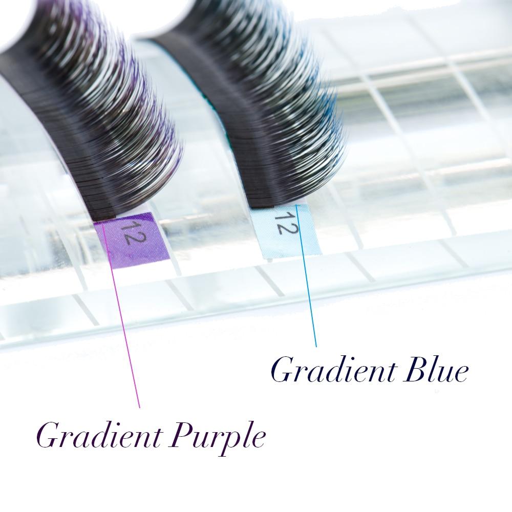 NAGARAKU 20 cases Ombre Color Purple blue Gradient rainbow color Individual eyelashes 0.07C eyelash extensions Premium soft mink