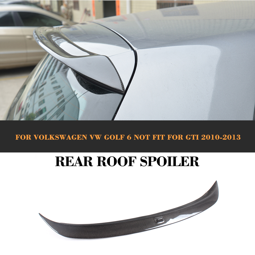 Carbon Fiber Rear Trunk Spoiler Boot Lip Wing For Volkswagen VW Golf VI 6 Standard Non GTI R 2010 - 2013 O style Grey FRP car rear trunk security shield cargo cover for volkswagen vw golf 6 mk6 2008 09 2010 2011 2012 2013 high qualit auto accessories