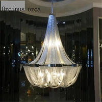 Nordic luxury tassels aluminum chain lights personalized atmosphere villa duplex building, living room Chandelier Postage free