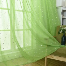 tulle curtains Modern star Curtains para Living Room Bedroom Kitchen free shipping sheers 1pic