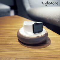 Alightstone Wood Watch Stand For Apple Watch Smart Watch Charging Dock Cable Managment Chargers Holder