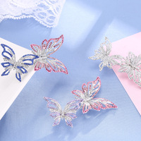 New Fashion Austria Rhinestone Butterfly Brooch Pin Bridal Wedding Collar Lapel Brooches Jewelry Christmas Valentines Gifts