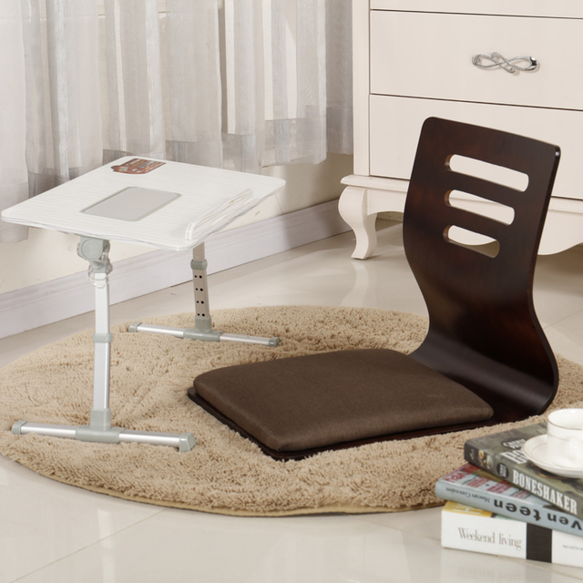 japanese table and chairs bentwood cane cafe 2pcs lot chair design home living room furniture kotatsu tatami zaisu legless floor black finish