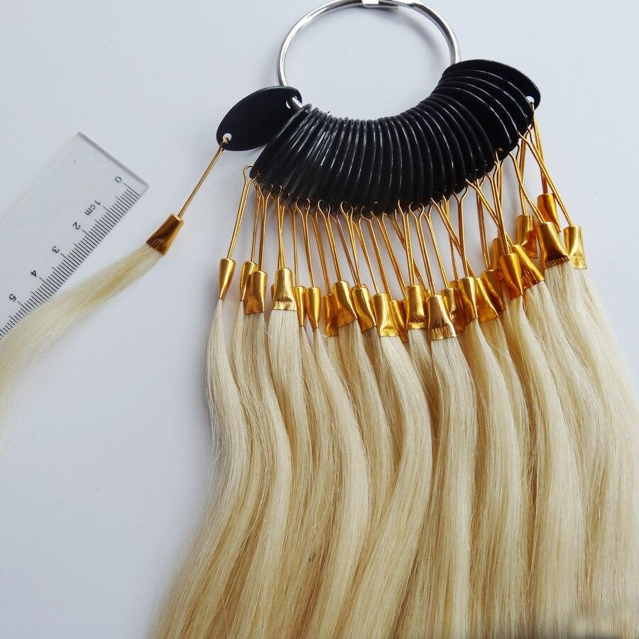 30 ピース/セット 100% 人バージンヘアカラーリング人毛拡張機能のとサロン髪染色サンプル、染めることができます任意の色  グループ上の ヘアエクステンション & ウィッグ からの カラーリング の中 3