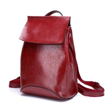 Womens new leather soft retro college wind shoulder bag Trends, female garden