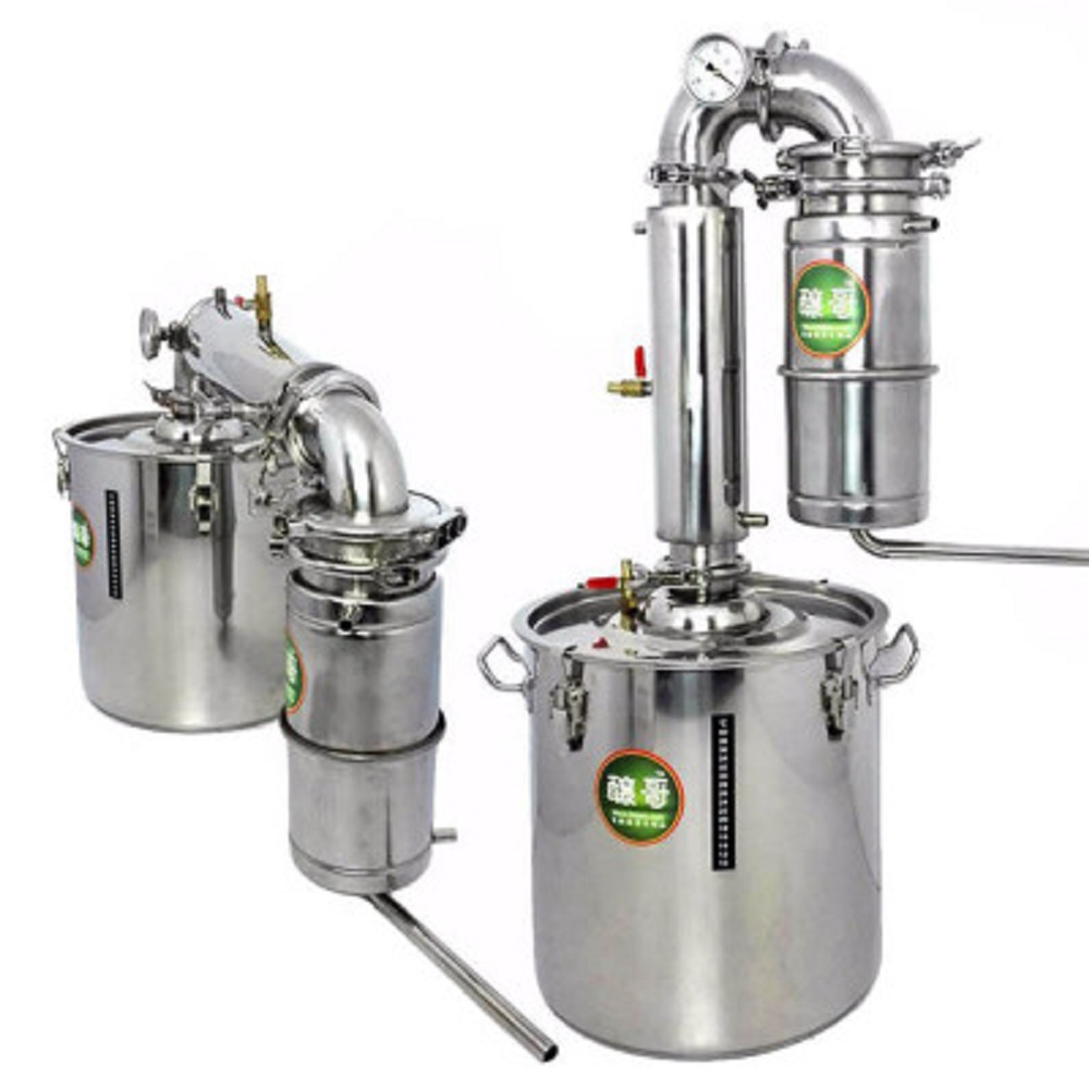 YUEWO 20L/30L/50L/70L Large Capacity Stainless Alcohol Distiller Liquor Wine Brewing Device Spirits(Alcohol) Distillation Vodka
