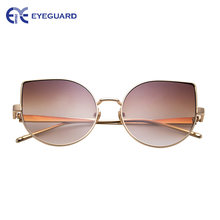 Очки солнцезащитные очки оверсайз кошачий глаз для женщин