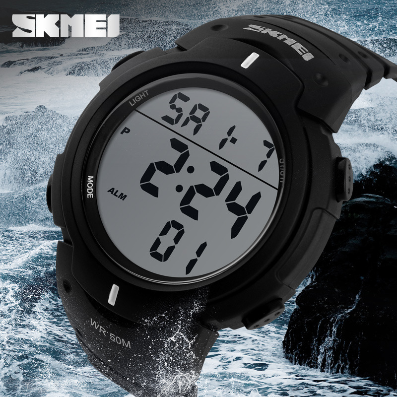 el man big backlight smart outdoor watches fashion watch skmei wristwatches dial digital men brand sport index