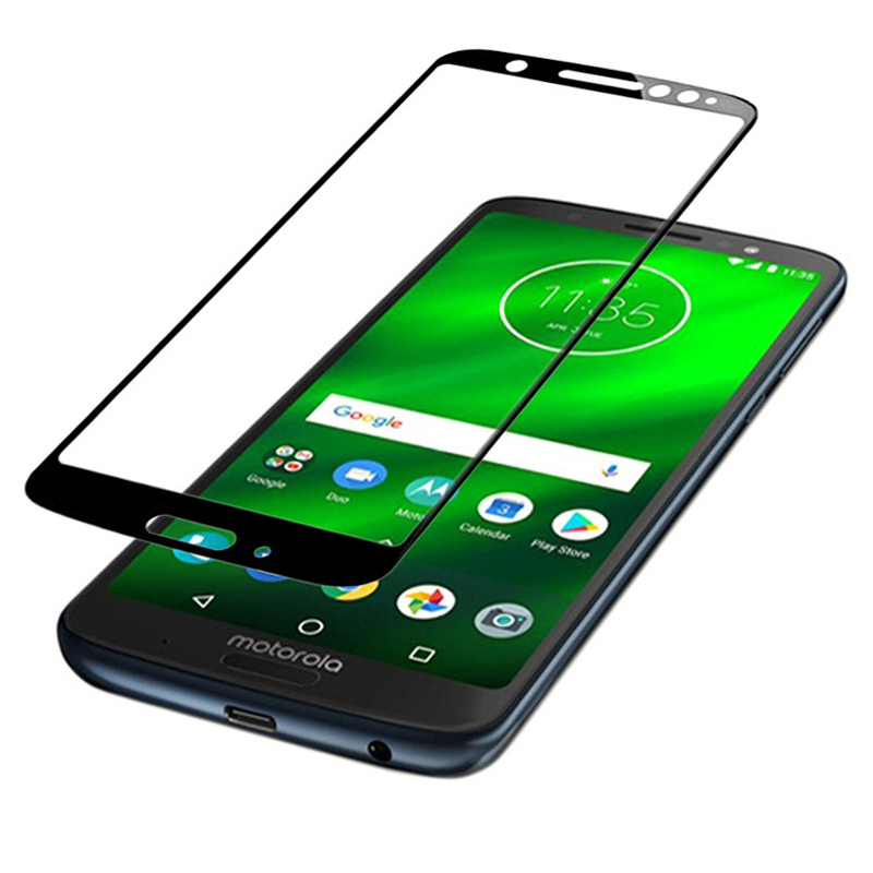 3d Glass For Motorola Moto G6 Screen Protector Film For MOTO E4 G6 Play Plus 9h Tempered Glass Full Cover Case Protective Film