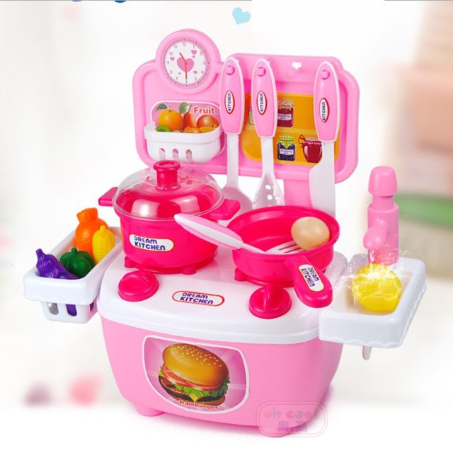 Aliexpress Com Buy Children Miniature Kitchen Set Pretend Play