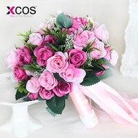 2018 Розовый Новый невесты Свадебный букет невесты Романтический Свадебный букет цветок свадебные аксессуары для невест